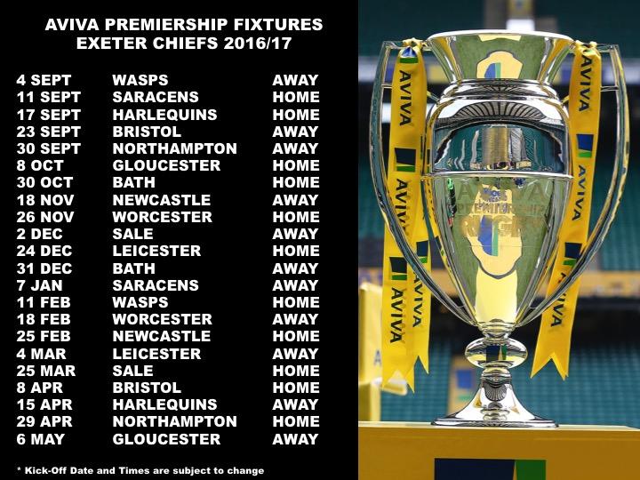 Prem Fixtures 16 17 Announced